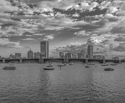 Impressionist Landscapes - Black and White Boston by Brian MacLean
