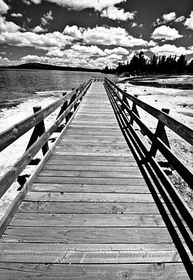 Photograph - Black And White Bridge by Crystal Wightman