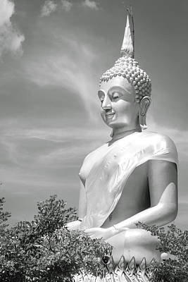 Black And White Buddha Original