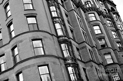 Photograph - Black And White Building Facade by Staci Bigelow