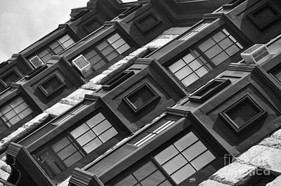 Photograph - Black And White Building by Staci Bigelow