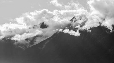 Photograph - Mountain Range Bute Inlet  by Roxy Hurtubise