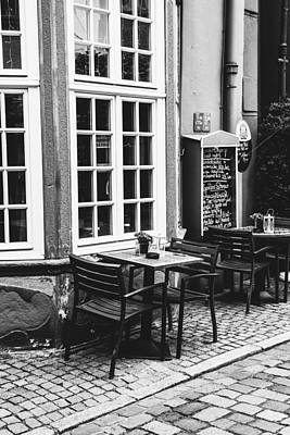 Bremen Photograph - Black And White Cafe by Pati Photography