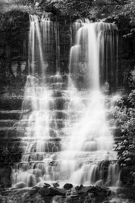 Photograph - Black And White Cascade by Scott Bean