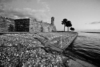 Black And White Castillo De San Marcos View 3 Art Print