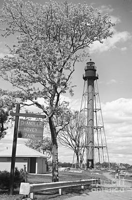 Typographic World - Black and White Chandler Hovey Park by Ruth H Curtis