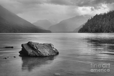 Photograph - Black And White Cheakamus Lake by Adam Jewell