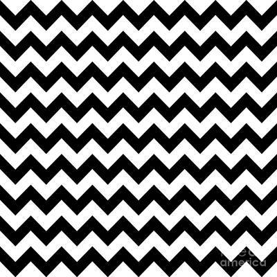 Digital Art - Black And White Chevron by Jackie Farnsworth