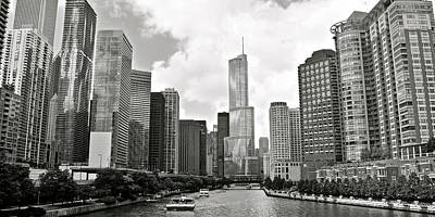 Photograph - Black And White Chicago by Frozen in Time Fine Art Photography