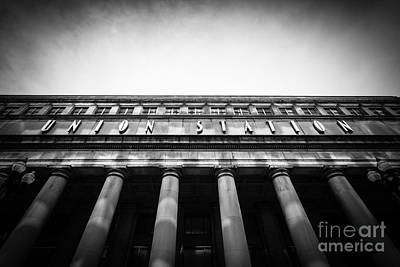 Terminal Photograph - Black And White Chicago Union Station by Paul Velgos