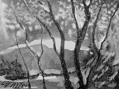 Painting - Black And White Christmas by Gretchen Allen
