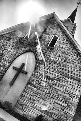 Photograph - Black And White Church by Dan Sproul