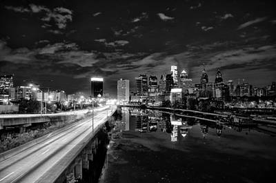 Black And White Cityscape - Philadelphia Art Print