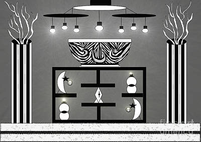 Painting - Black And White Decor by Lewanda Laboy