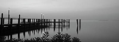 Black And White Dock Art Print by Crystal Wightman