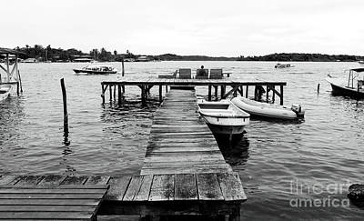 Photograph - Black And White Dock by John Rizzuto