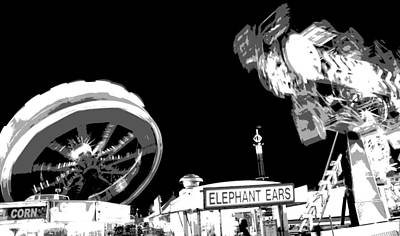 Hot Dogs Photograph - Black And White Festival Night by Dan Sproul