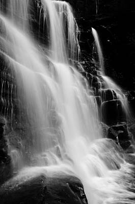 Photograph - Black And White Waterfall by Crystal Wightman