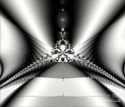 Digital Art - Black And White Fractal by Maria Urso