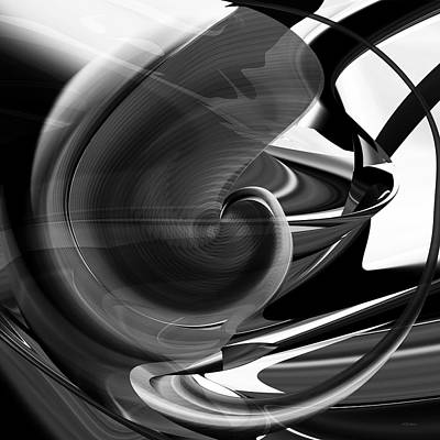 Black And White Future Abstract Art Print by rd Erickson