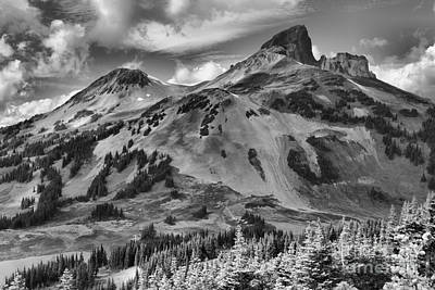 Photograph - Black And White Garibaldi Black Tusk by Adam Jewell