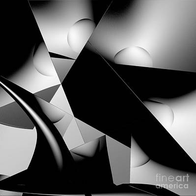 Digital Art - Black And White by Greg Moores