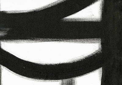 Modern Abstract Painting - Black And White Iv by Sarah Ogren