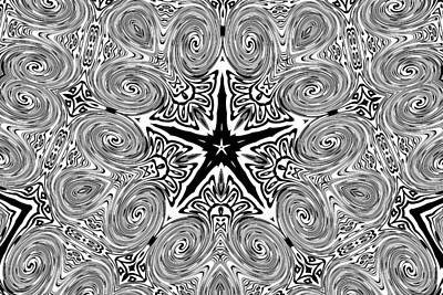 Photograph - Black And White Kaleidoscope by Peggy Collins