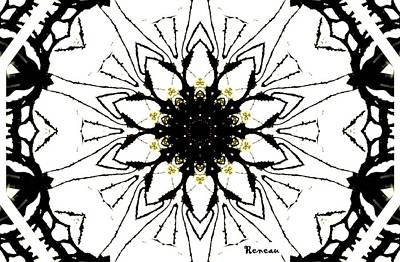 Photograph - Black And White Kaleidoscope by Sadie Reneau