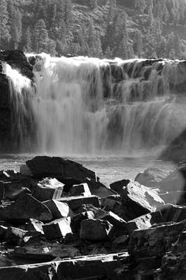 Photograph - Black And White Kootenai Falls by Connie Zarn