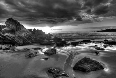 Photograph - Black And White Laguna Beach by Cliff Wassmann