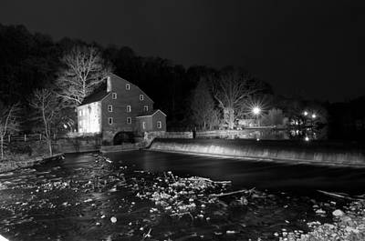 Water Photograph - Black And White Mill by Ryan Crane