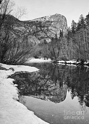 Photograph - Black And White Mirror - View Of Mirror Lake In Yosemite National Park. by Jamie Pham