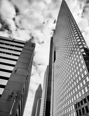Photograph - Black And White Monoliths by Tony Grider