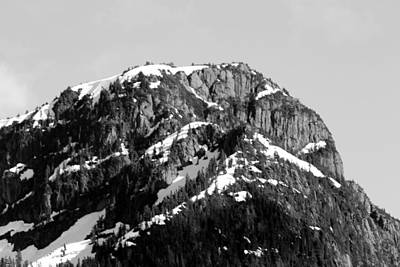 Photograph - Black And White Mountain Range 1 by Diane Rada