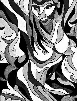 Painting - Black And White Nude by Carol Tsiatsios
