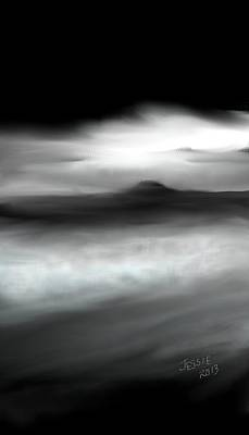 Painting - Black And White Ocean by Jessica Wright