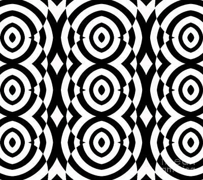 Black And White Op Art Pattern No.249. Art Print by Drinka Mercep