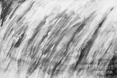 Artistic Photograph - Black And White Painting Pattern by Michal Bednarek