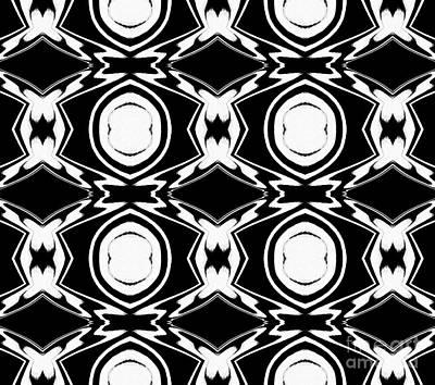 Black And White Pattern Art No.34 Art Print by Drinka Mercep