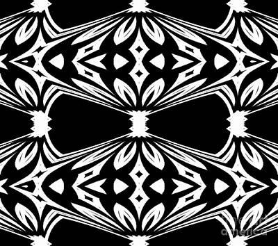 Black And White Pattern No.265 Art Print by Drinka Mercep