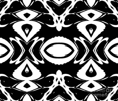 Black And White Pattern Ornament Abstract Art No.156  Art Print