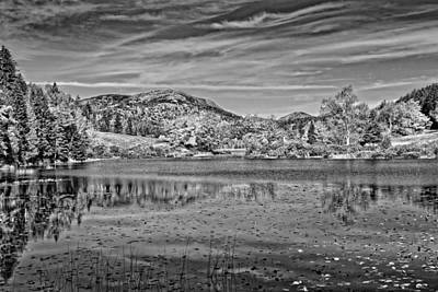 Photograph - Black And White Photo Of Long Pond Acadia National Park Maine by Keith Webber Jr