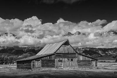 Brown Tones Photograph - Black And White Photo Of The T.a. Moulton Barn In The Grand Tetons by Randall Nyhof