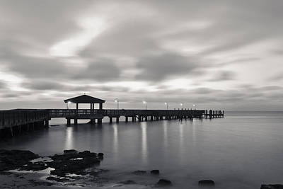 Photograph - Black And White Pier by Scott Meyer
