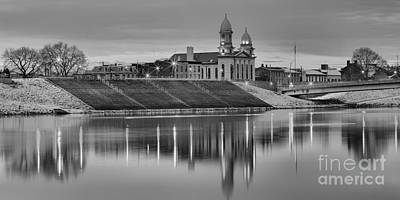 Photograph - Black And White Reflections Of Lock Haven by Adam Jewell