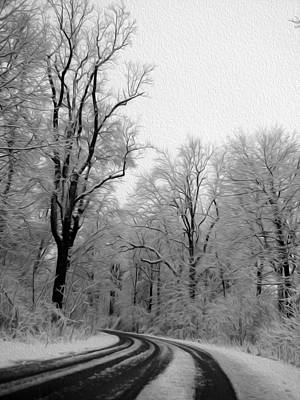 Black And White Road Art Print