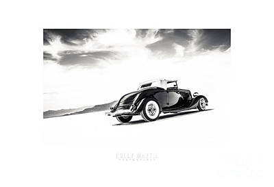 Antique Automobile Photograph - Black And White Salt Metal by Holly Martin