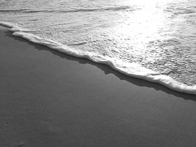 Saltlife Photograph - Black And White Sea Foam by Karen Rhodes