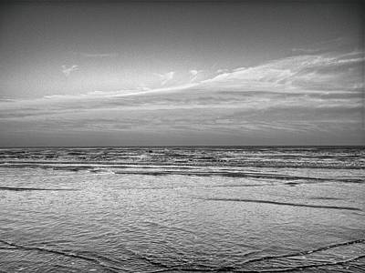 Photograph - Black And White Seascape by Kristina Deane